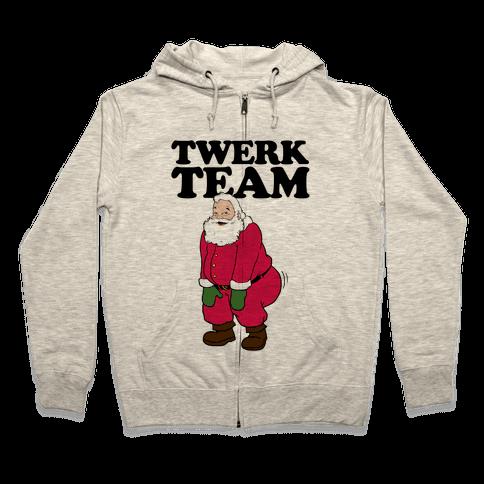 Twerk Team Santa Zip Hoodie