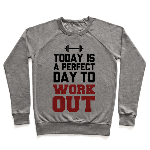 Today Is a Perfect Day to Work Out Pullover