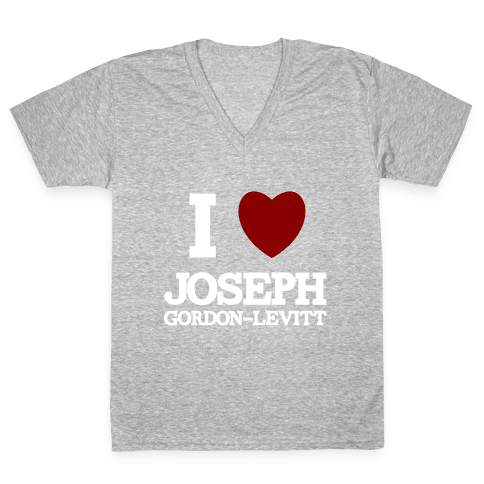 I Heart Joseph Gordon-Levitt V-Neck Tee Shirt
