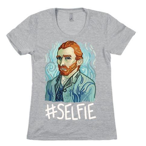 Van Gogh Selfie Womens T-Shirt