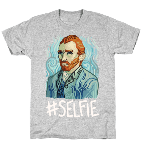Van Gogh Selfie Mens T-Shirt