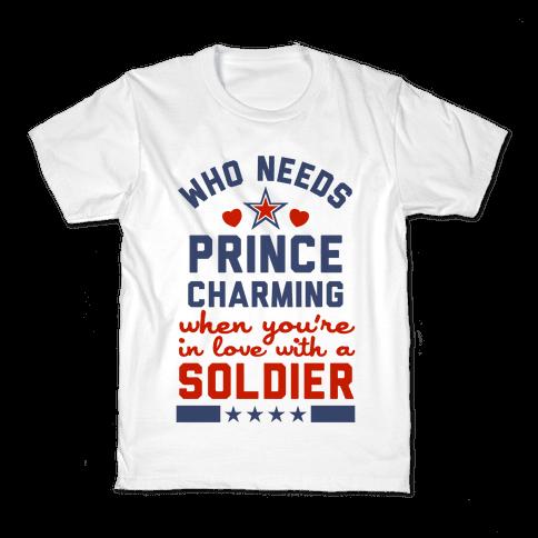Who Needs Prince Charming? (Patriotic) Kids T-Shirt