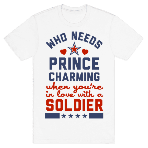 Who Needs Prince Charming? (Patriotic) Mens T-Shirt