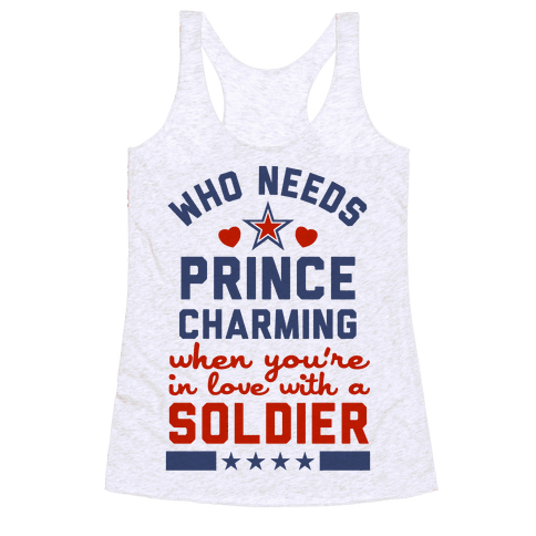 Who Needs Prince Charming? (Patriotic) Racerback Tank Top