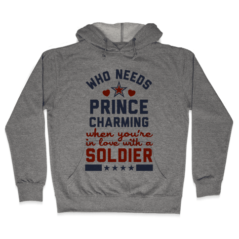 Who Needs Prince Charming? (Patriotic) Hooded Sweatshirt