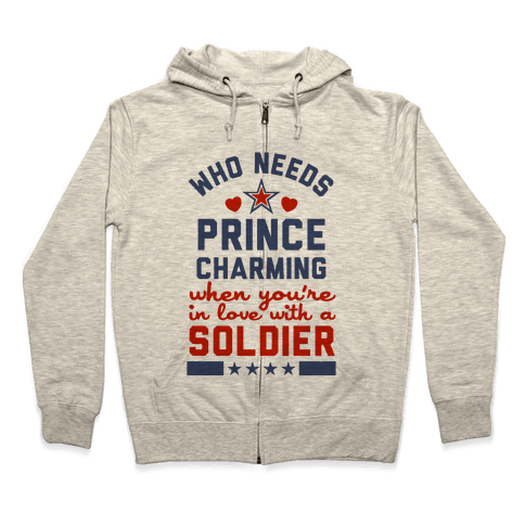 Who Needs Prince Charming? (Patriotic) Zip Hoodie