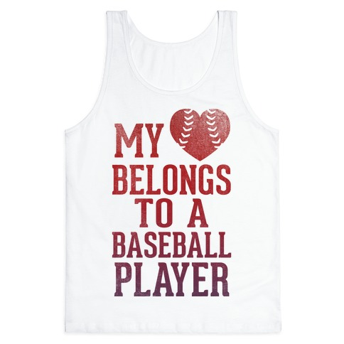 My Heart Belongs To A Baseball Player (Red Tank) Tank Top
