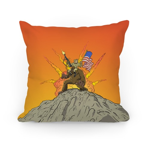 Teddy and Bigfoot: Rough Riders For Life Pillow
