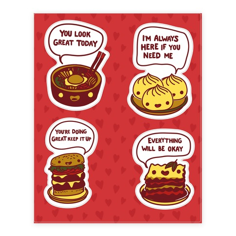 Comfort Food Stickers and Decal Sheet