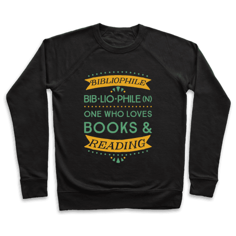 Bibliophile Definition Pullover