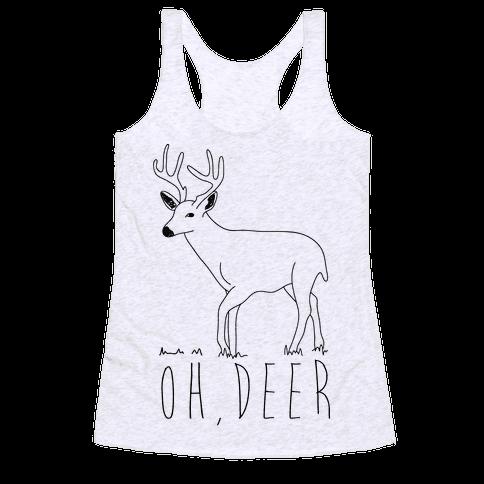 Oh Deer Racerback Tank Top