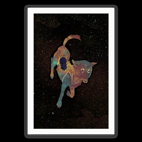 Astronaut Dog Chernushka Poster