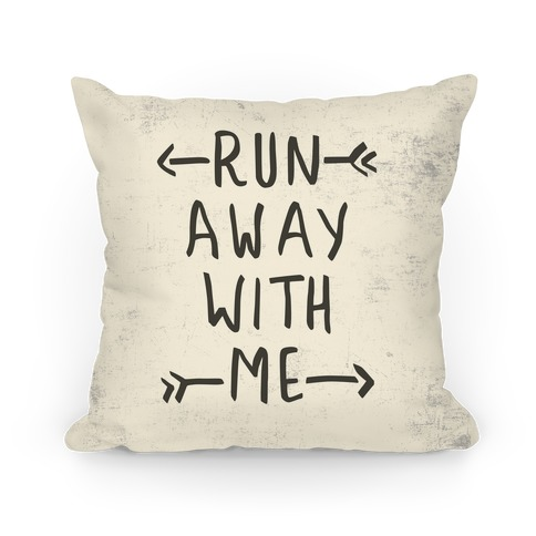 Run Away With Me Pillow (Beige) Pillow