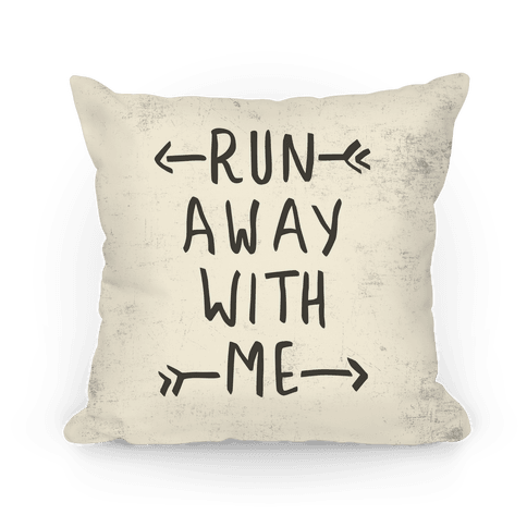 Run Away With Me Pillow (Beige)