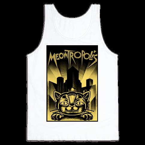 Meowtropolis (Metropolis Parody) Tank Top