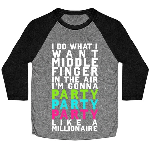 Party Party Party Baseball Tee