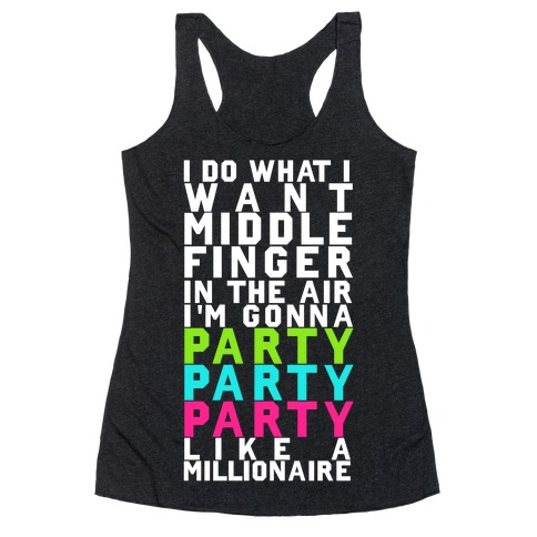 Party Party Party Racerback Tank Top