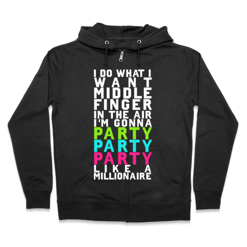 Party Party Party Zip Hoodie