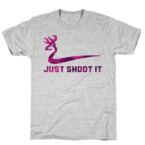 Just Shoot It Pink (V-neck) T-Shirt