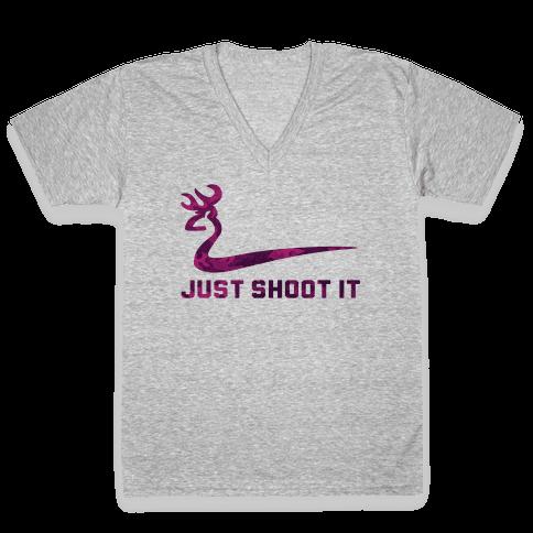 Just Shoot It Pink (V-neck)