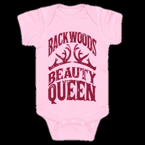 Backwoods Beauty Queen Baby Onesy