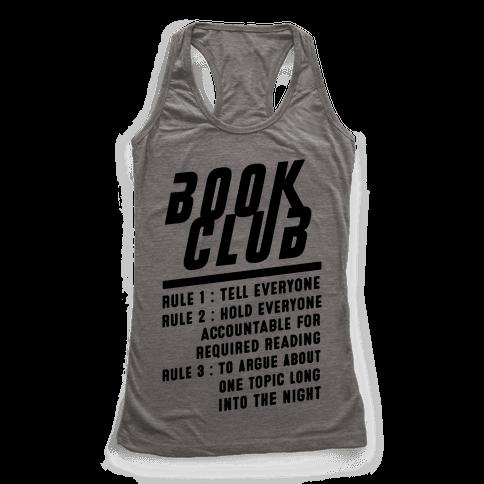 Book Club Rules Racerback Tank Top