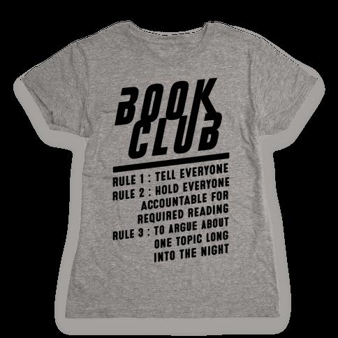 Book Club Rules Womens T-Shirt