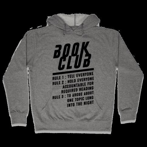 Book Club Rules Hooded Sweatshirt