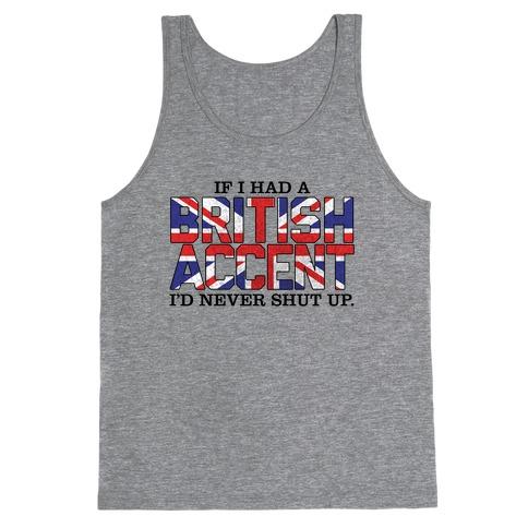 British Accent Tank Top