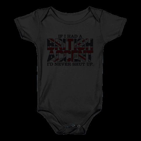 British Accent Baby Onesy