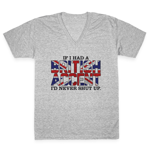 British Accent V-Neck Tee Shirt