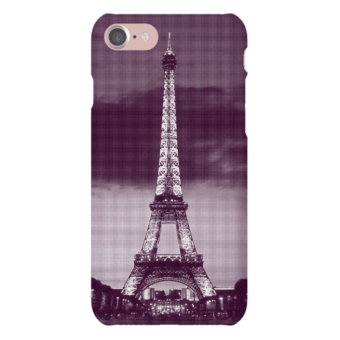 Eiffel Tower Case (Purple) Phone Case