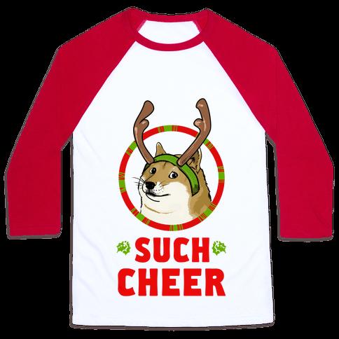 Christmas Doge Baseball Tee