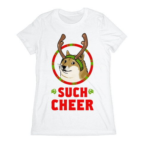 Christmas Doge Womens T-Shirt