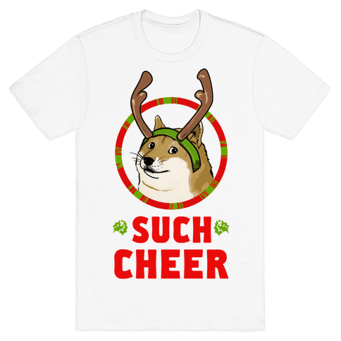 Christmas Doge Mens T-Shirt