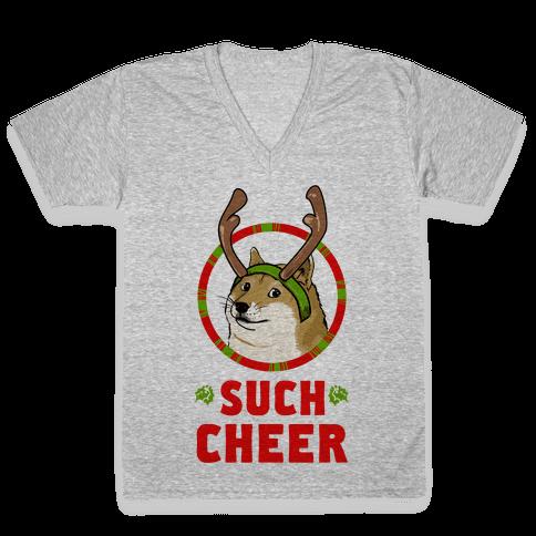 Christmas Doge V-Neck Tee Shirt