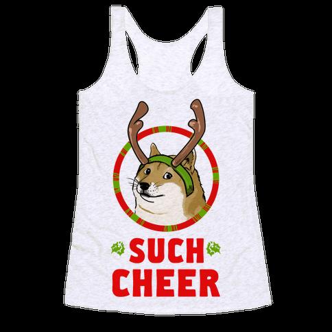Christmas Doge Racerback Tank Top
