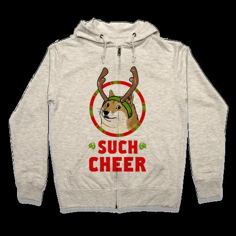 Christmas Doge Zip Hoodie