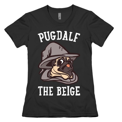 Pugdalf The Beige Womens T-Shirt