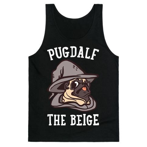 Pugdalf The Beige Tank Top