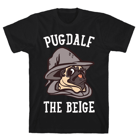 Pugdalf The Beige Mens T-Shirt