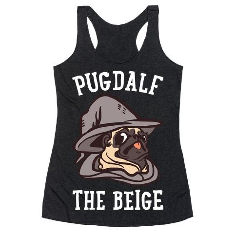 Pugdalf The Beige Racerback Tank Top