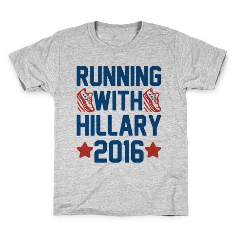 Running With Hillary 2016 Kids T-Shirt