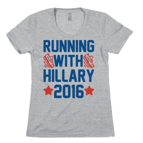 Running With Hillary 2016 Womens T-Shirt