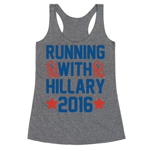 Running With Hillary 2016 Racerback Tank Top