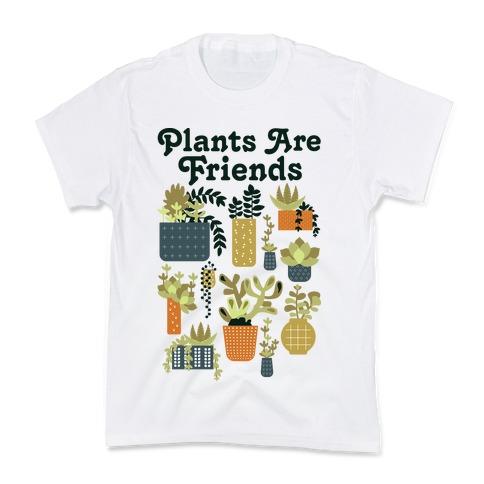 Plants Are Friends Retro Kids T-Shirt