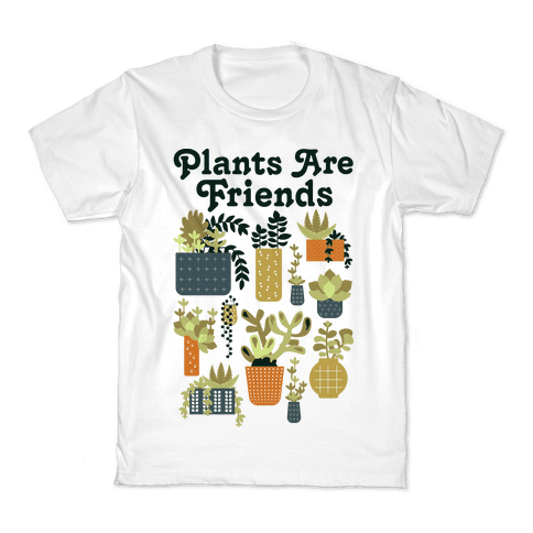 Plants Are Friends Retro Kids T-Shirt