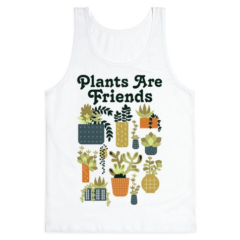 Plants Are Friends Retro Tank Top