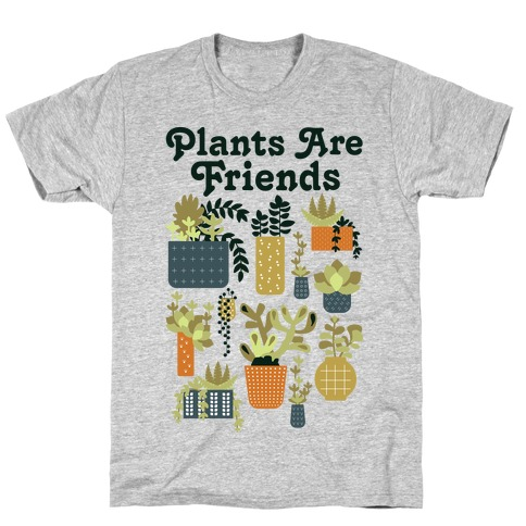 Plants Are Friends Retro T-Shirt