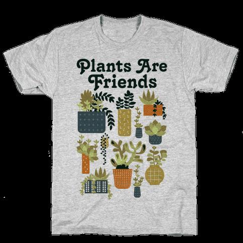 Plants Are Friends Retro Mens/Unisex T-Shirt